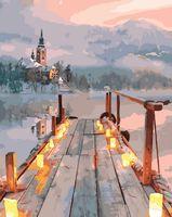 """Картина по номерам """"Озеро в Словении"""" (400х500 мм)"""