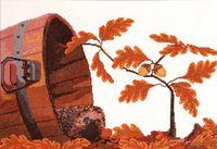 """Вышивка крестом """"Осенний гость"""""""