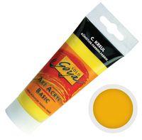 """Краска акриловая матовая """"Solo Goya Basic"""" 05 (100 мл; индийский желтый)"""