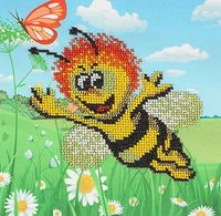 """Вышивка бисером """"Веселая пчелка"""""""