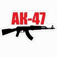 "Наклейка на машину ""АК-47"" (25х14 см)"