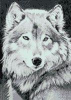"Алмазная вышивка-мозаика ""Серый волк"" (270х380 мм)"