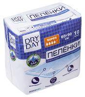 """Пеленки одноразовые детские """"DryDay. Super"""" (10 шт.; 600 х 900 мм)"""