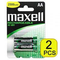 Аккумуляторы AA 2500 mAh Maxell NiMH (2 штуки)