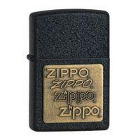 "Зажигалка Zippo ""Zippo Brass Emblem. Black Crackle"" (362)"
