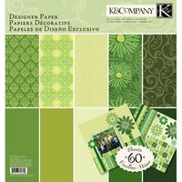 """Набор бумаги для скрапбукинга """"Зеленый тон. Базовые цвета"""" (310х310 мм; 60 листов)"""