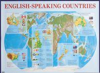 Англоязычные страны. Плакат