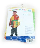 Плащ-накидка от дождя детская (пластик, разноцветный)