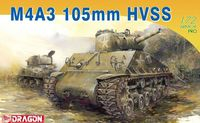 """Средний танк """"M4A3 105mm HVSS"""" (масштаб: 1/72)"""