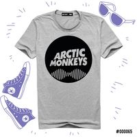 "Футболка серая унисекс ""Arctic Monkeys"" XL (065)"