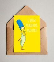 """Открытка """"Мардж Симпсон"""" (арт. 684)"""