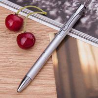 """Ручка шариковая черная """"Silver Click"""""""