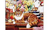 """Картина по номерам """"Рыжая кошка"""""""