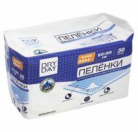"""Пеленки одноразовые детские """"DryDay. Super"""" (30 шт.; 600х900 мм)"""