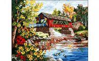 """Картина по номерам """"Домик у пруда"""" (400x500 мм)"""