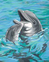 "Картина по номерам ""Дуэт дельфинов"" (200x250мм; арт. 91148-DMS)"