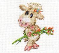 """Вышивка крестом """"Милая овечка"""""""