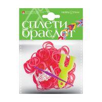 """Набор для плетения из резиночек """"Неоновый розовый"""" (1000 шт.)"""