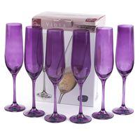 """Бокал для шампанского стеклянный """"Viola"""" (6 шт.; 190 мл; арт. 40729/D4789/190)"""