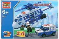 """Конструктор """"Полиция. Вертолёт и машина 2 в 1"""" (арт. UU-3015-R)"""