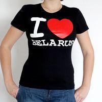 "Футболка женская Vitaem ""I LOVE BELARUS"" (черная) (M)"