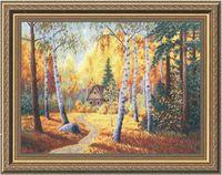 """Вышивка крестом """"В тиши лесной"""" (377х282 мм)"""