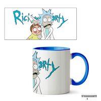 """Кружка """"Рик и Морти"""" (655, голубая)"""