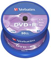 Диск DVD+R 4.7 Gb 16x Verbatim CakeBox 50