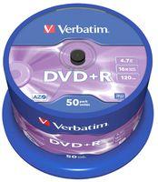Диск DVD+R 4.7Gb 16x Verbatim CakeBox 50
