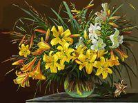 "Картина по номерам ""Золотая лилия"" (300х400 мм)"