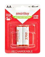 Аккумулятор NiMh Smartbuy AA/2BL 2700 mAh (24/240) (2 шт.; SBBR-2A02BL2700)