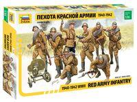 """Набор миниатюр """"Пехота красной армии 1940-1942"""" (масштаб: 1/35)"""