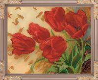 "Вышивка бисером ""Тюльпаны"" (190х240 мм)"