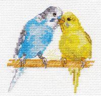 """Вышивка крестом """"Попугайчики"""""""