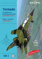 """Сборная модель из картона """"Истребитель-бомбардировщик Tornado. Зеленый"""" (масштаб: 1/72)"""