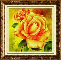"""Алмазная вышивка-мозаика """"Чайная роза"""" (500х500 мм)"""