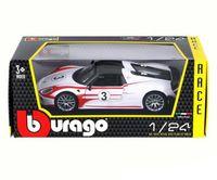 "Модель машины ""Bburago. Race. Porsche 918"" (масштаб: 1/24)"