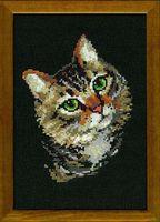 """Вышивка крестом """"Серая кошка"""" (арт. 766)"""