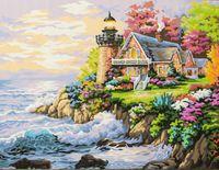 """Картина по номерам """"Дом у маяка"""" (400x500 мм; арт. MG115)"""