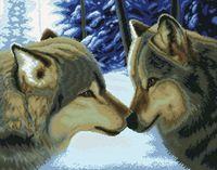 "Вышивка крестом ""Два волка"" (550х680 мм)"