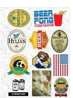 "Набор виниловых наклеек №26 ""Beer"""