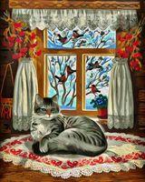 "Картина по номерам ""Зима за окном 2. Пробуждение"" (500х400 мм)"