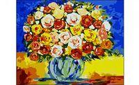 """Картина по номерам """"Яркий букет"""" (400x500 мм)"""