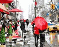 """Картина по номерам """"Осенний Нью-Йорк"""" (400х500 мм)"""