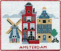 "Вышивка крестом ""Амстердам"" (90х80 мм; на магните)"