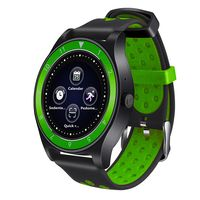 Фитнес-часы D&A F010 (черно-зеленые)
