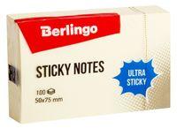"""Стикеры """"Berlingo"""" (50х75 мм; 100 листов; желтые)"""