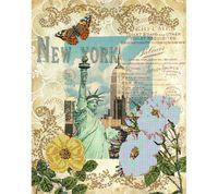 """Канва с нанесенным рисунком """"Вокруг света - Нью-Йорк"""""""