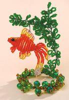 """Фигурка из бисера """"Золотая рыбка"""""""