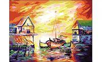 """Картина по номерам """"Яркий закат на море"""" (400x500 мм)"""